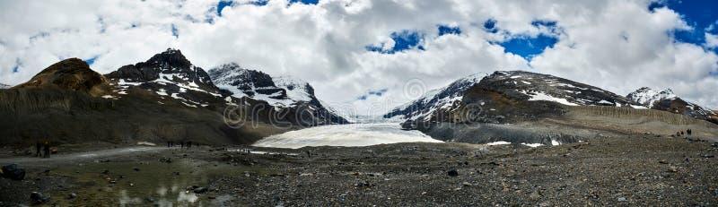 Glaciar de Athabasca, ruta verde Jasper National Park de Icefields fotografía de archivo