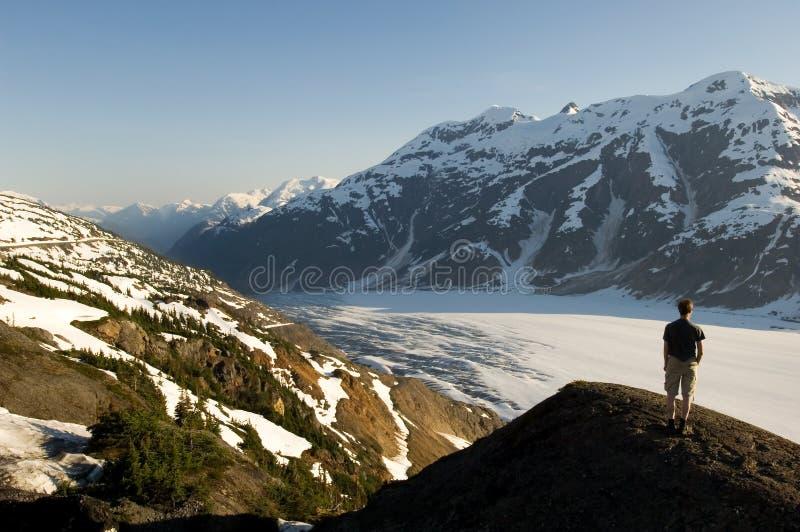 Glaciar de color salmón, Alaska foto de archivo