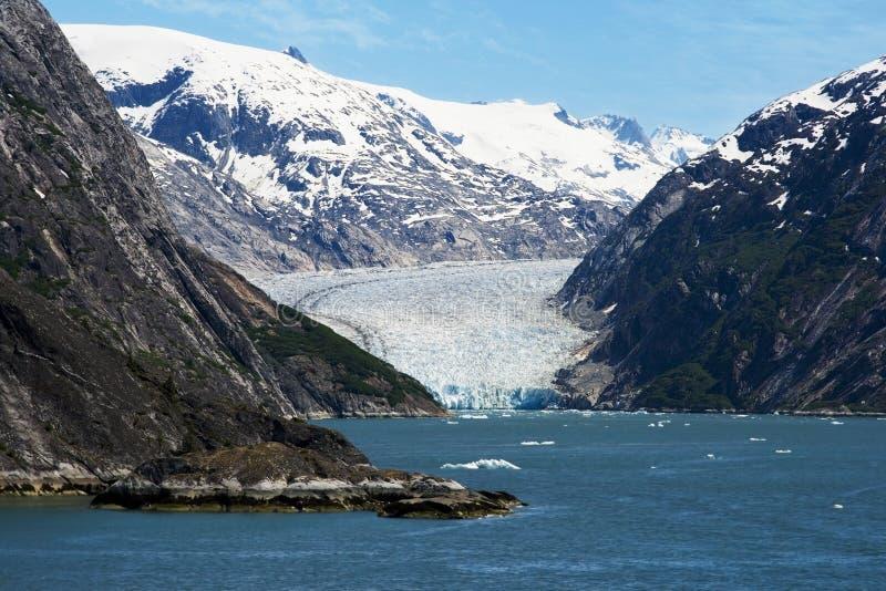 Glaciar de Dawes, brazo de Endicott, Alaska fotografía de archivo libre de regalías