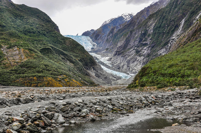 Glaciar de Francisco José en Nueva Zelandia foto de archivo