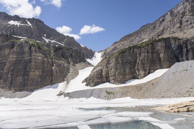 Glaciar de Grinnell - Parque Nacional Glacier foto de archivo libre de regalías