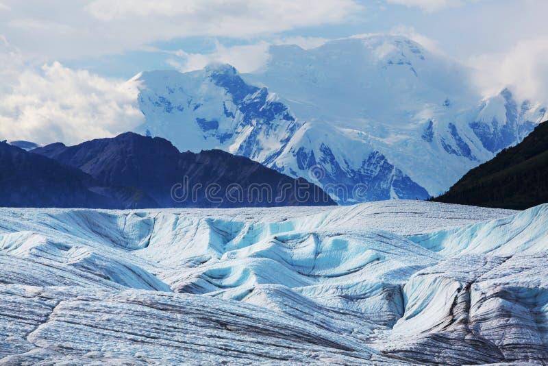 Glaciar de Kennicott foto de archivo libre de regalías