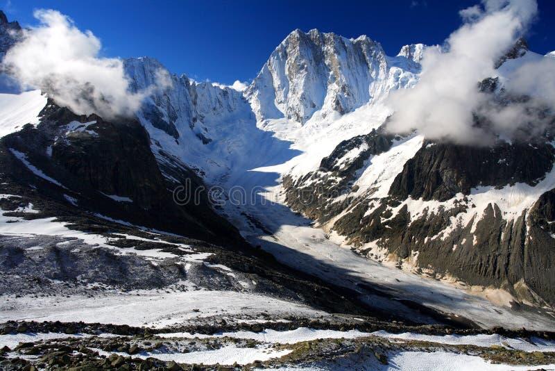 Glaciar de Leschaux foto de archivo libre de regalías