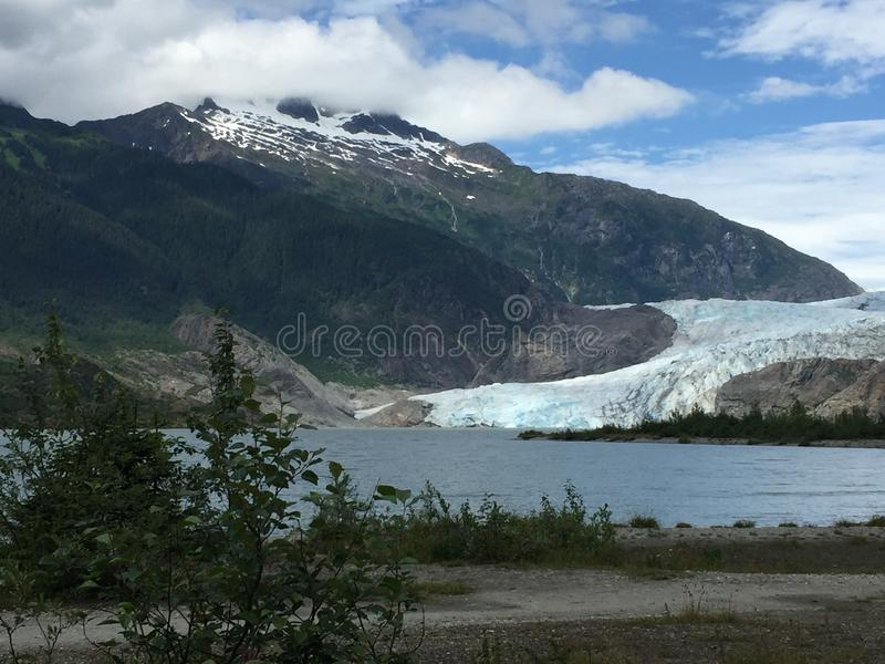 Glaciar de Mendenhall imagen de archivo
