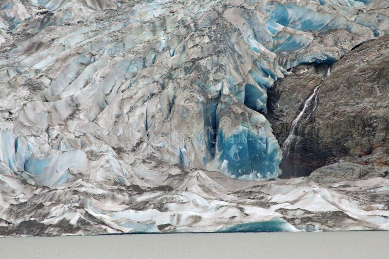 Glaciar de Mendenhall, Alaska imagenes de archivo