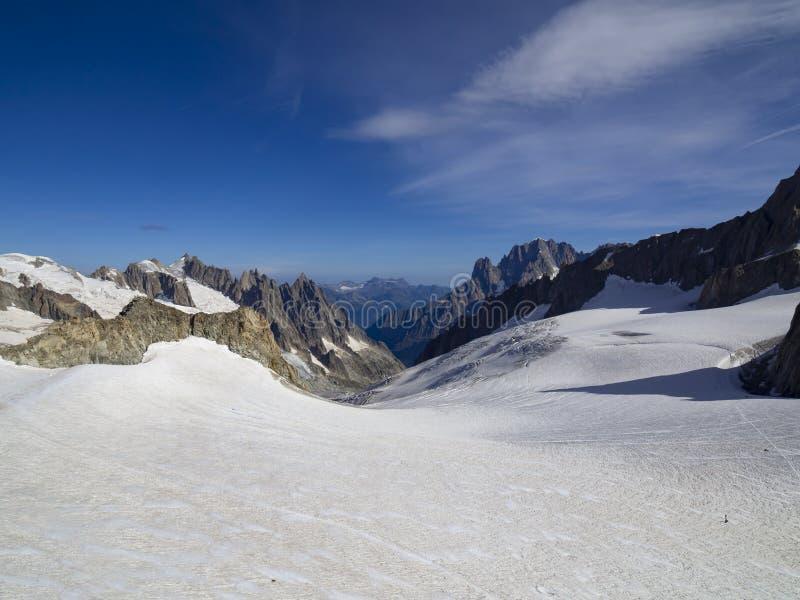 Glaciar de Mont Blank foto de archivo