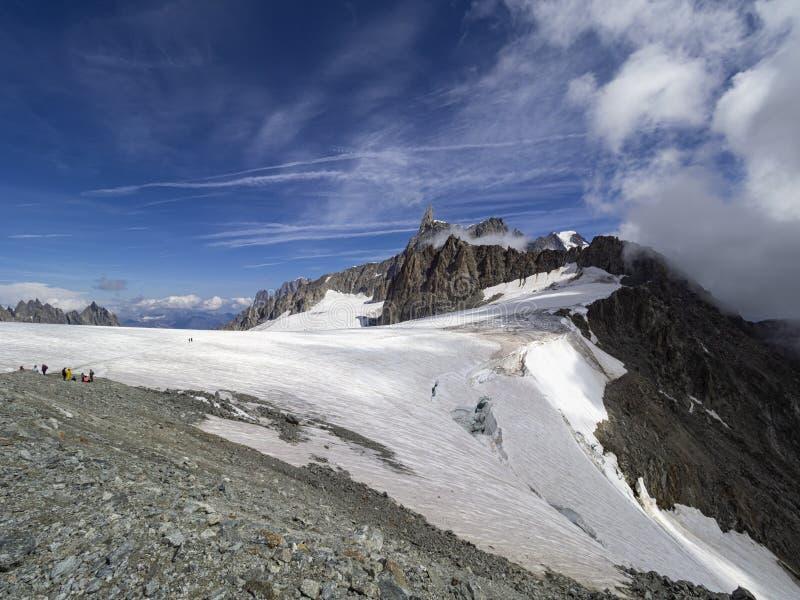Glaciar de Mont Blank fotografía de archivo libre de regalías