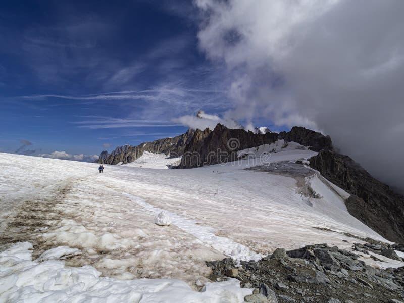 Glaciar de Mont Blank foto de archivo libre de regalías