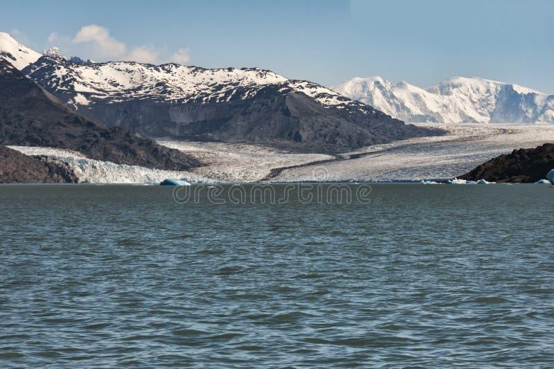 Glaciar de Onelli en la Patagonia, la Argentina fotografía de archivo libre de regalías