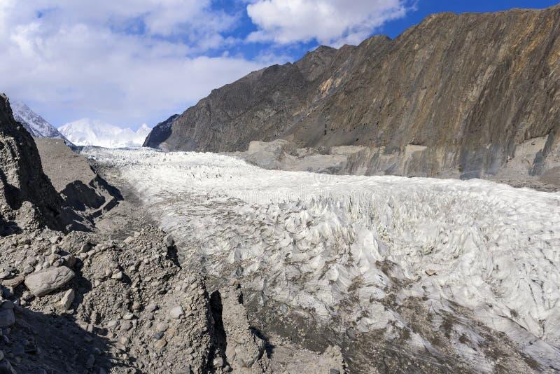 Glaciar de Passu en Passu, Paquistán foto de archivo libre de regalías