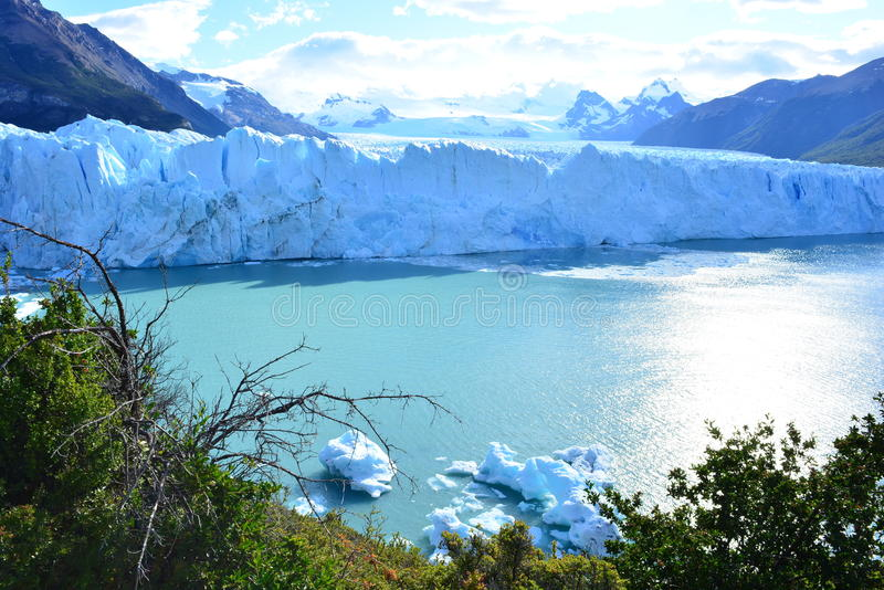 Glaciar de Perito Moreno en el EL Calafate, la Argentina fotos de archivo