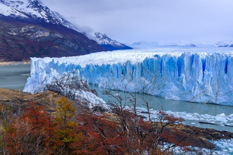 Glaciar de Perito Moreno en la Argentina fotografía de archivo