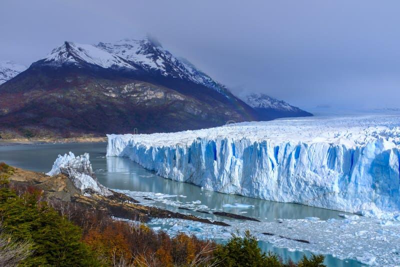 Glaciar de Perito Moreno en la Argentina foto de archivo