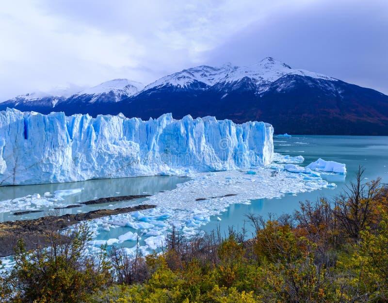 Glaciar de Perito Moreno en la Argentina foto de archivo libre de regalías