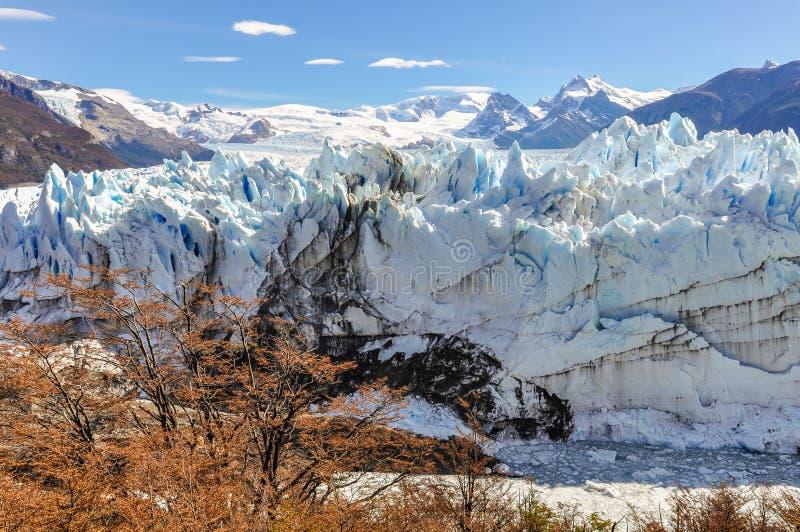 Glaciar de Perito Moreno, la Argentina imagenes de archivo
