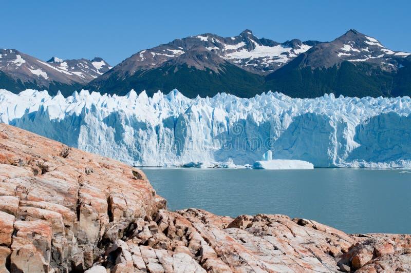 Glaciar de Perito Moreno, Patagonia, la Argentina foto de archivo