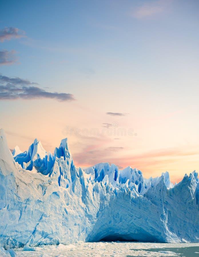 Glaciar de Perito Moreno, Patagonia la Argentina imagen de archivo