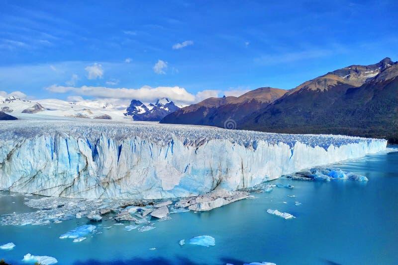 Glaciar de Perito Moreno, Patagonia, la Argentina imagen de archivo