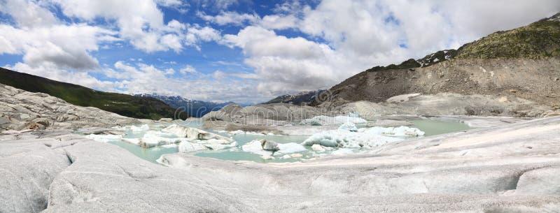 Glaciar de Rhone foto de archivo