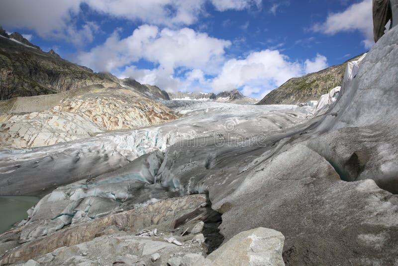 Glaciar de Rhone foto de archivo libre de regalías