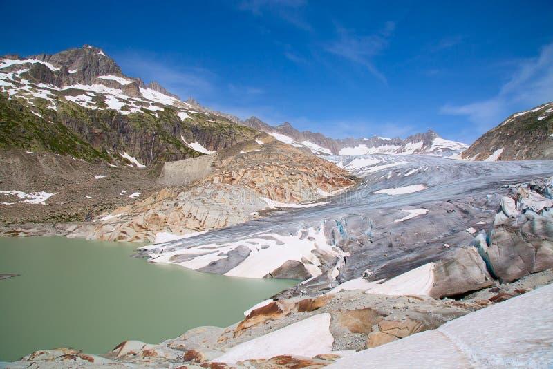 Glaciar de Rhone imagen de archivo