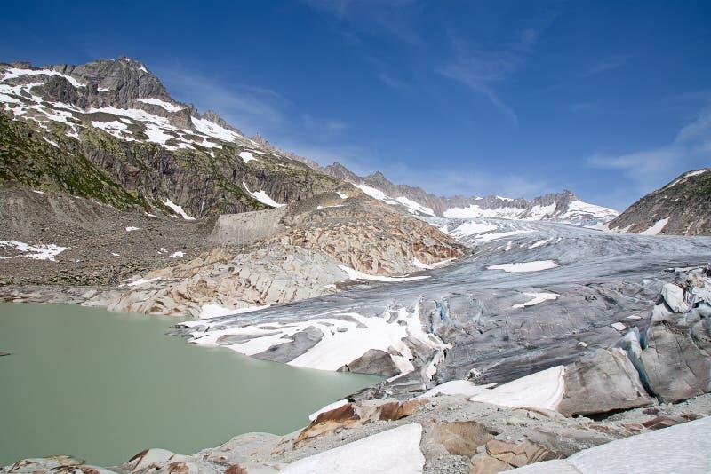 Glaciar de Rhone imagenes de archivo