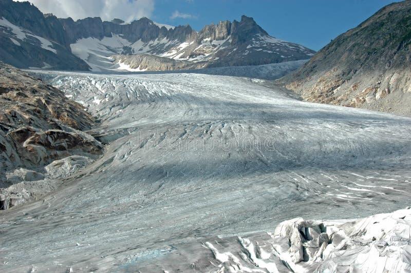 Glaciar de Rhone fotografía de archivo libre de regalías
