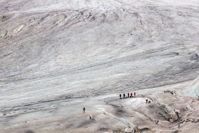 Glaciar de Rhone en Suiza en las montañas imagen de archivo libre de regalías