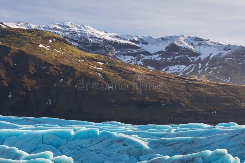 Glaciar de Skaftafell, parque nacional de Vatnajokull en Islandia fotografía de archivo