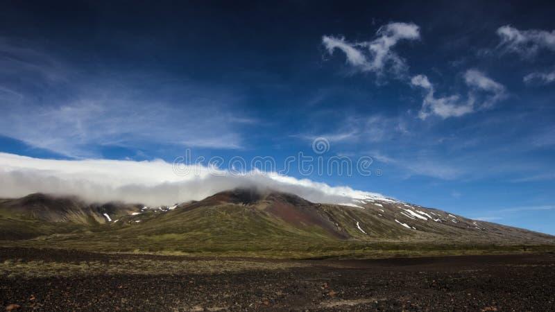Glaciar de Snaefellsjokull en la península de Snaefellsnes islandia foto de archivo libre de regalías