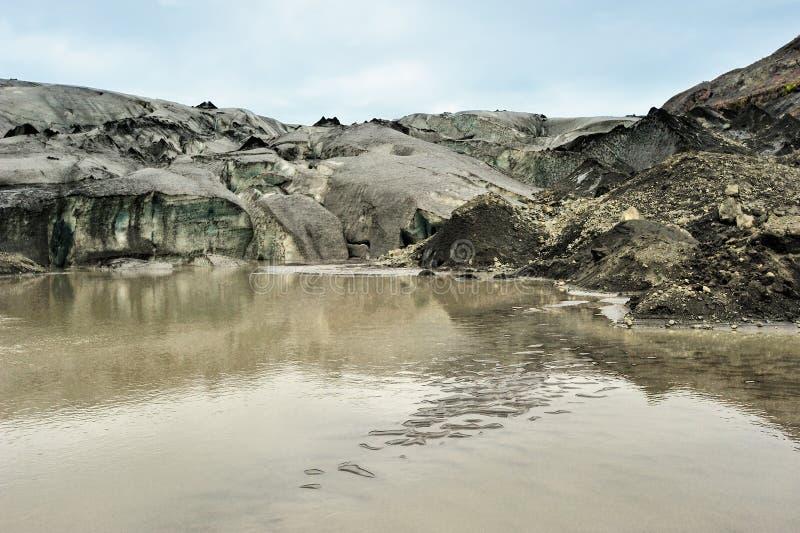 Glaciar de Solheimajokull, Islandia foto de archivo