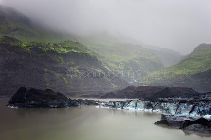 Glaciar de Svinafellsjokull del lago glacier en el Vatnajokull Nationa fotos de archivo
