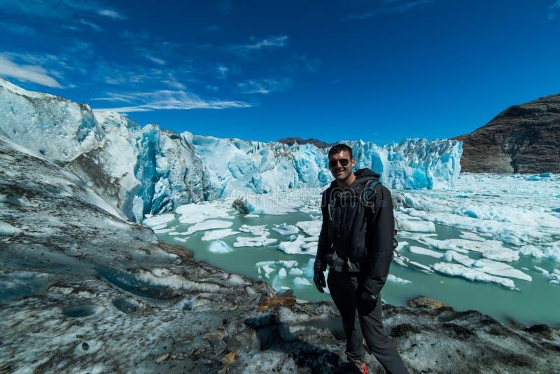 Glaciar de Viedma, región de la Patagonia de la Argentina foto de archivo libre de regalías