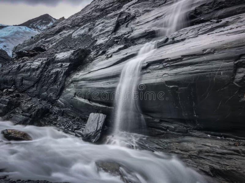 Glaciar de Worthington, Alaska foto de archivo libre de regalías