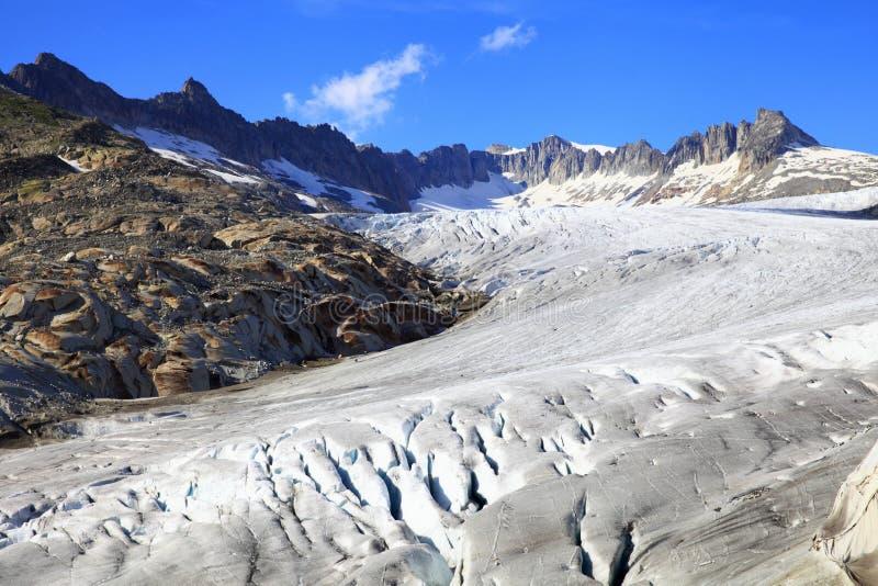 Glaciar del río Rhone imágenes de archivo libres de regalías