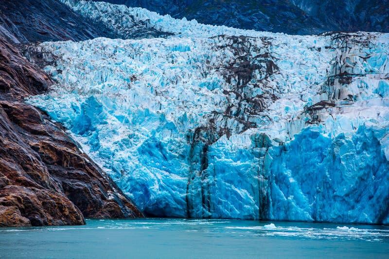 Glaciar del sur de Dawes en el brazo de Endicott imagen de archivo libre de regalías