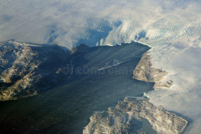 Glaciar en el océano imagenes de archivo