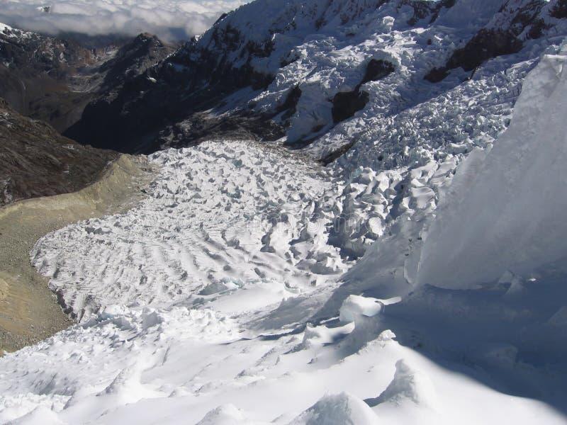 Glaciar en las altas cordilleras foto de archivo