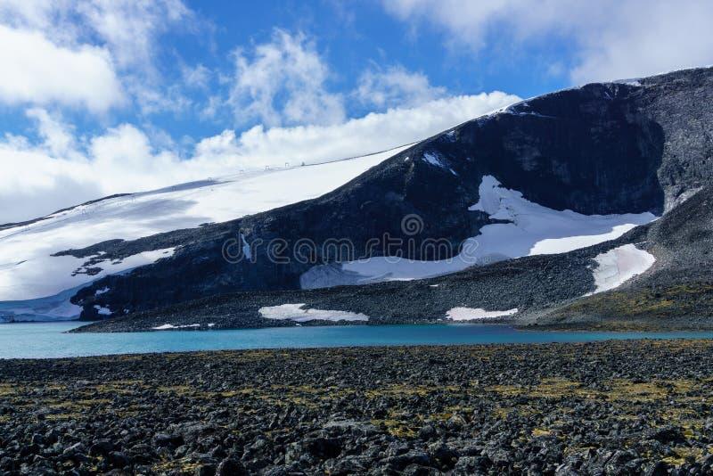 Glaciar en los jotunheimen en Noruega foto de archivo libre de regalías