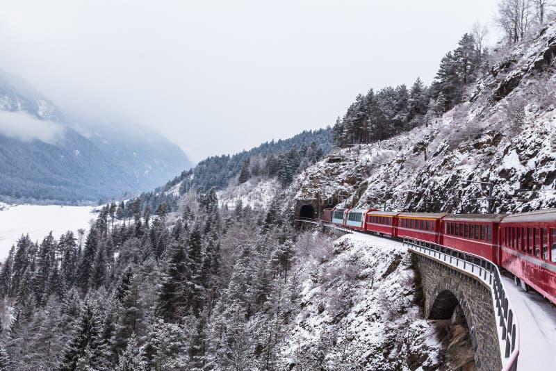 Glaciar expreso, Suiza imagen de archivo