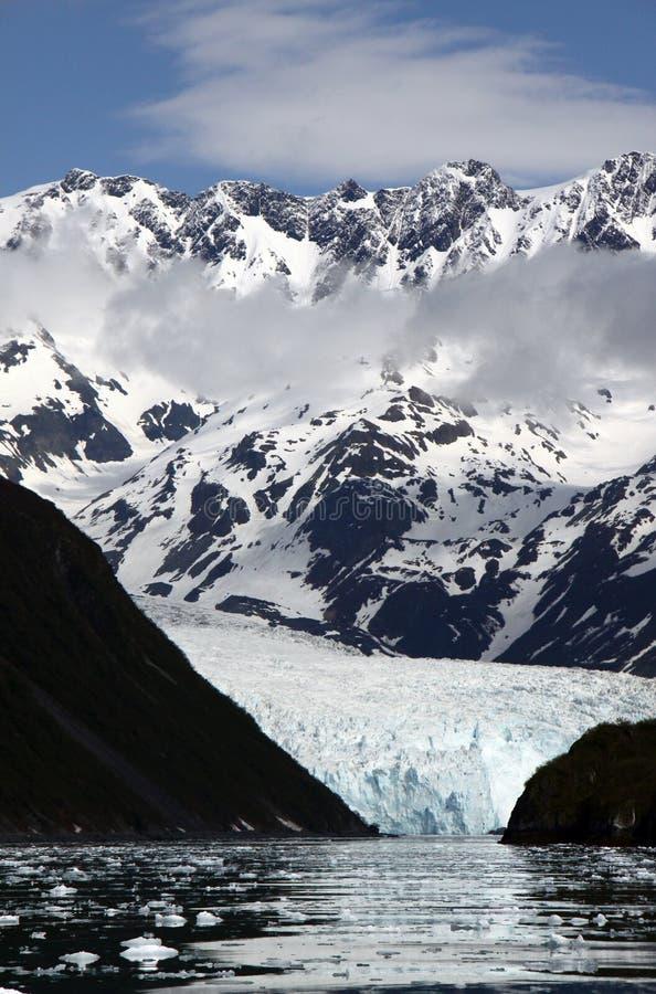 Glaciar - glaciar de Aialak en los fiordos de Kenai fotografía de archivo libre de regalías