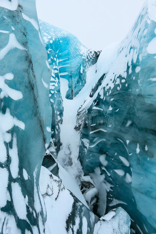 Glaciar interior de Solheimajokull, Islandia fotos de archivo libres de regalías