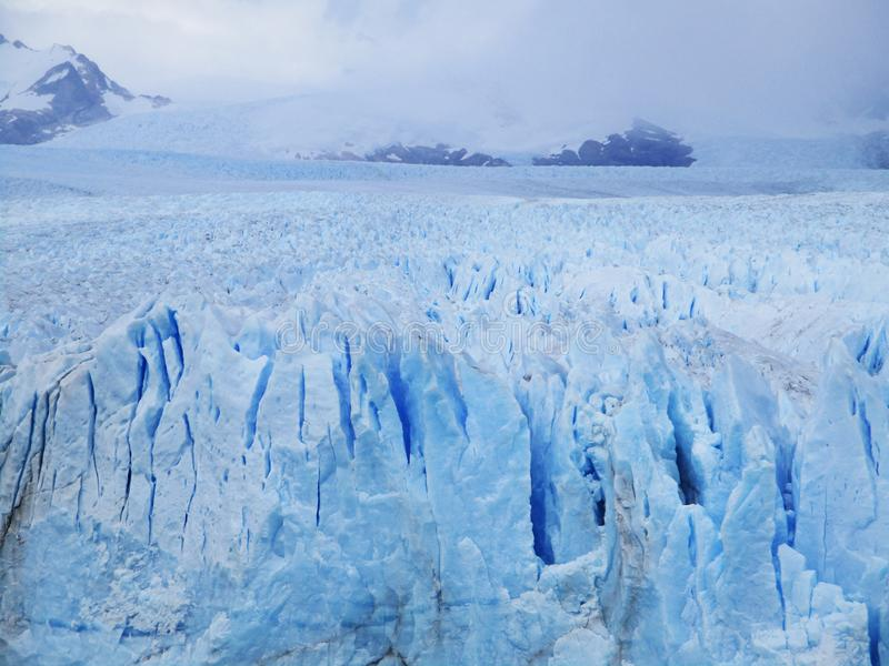 Glaciar magnífico Perito Moreno View, Calafate Argentina imagem de stock royalty free