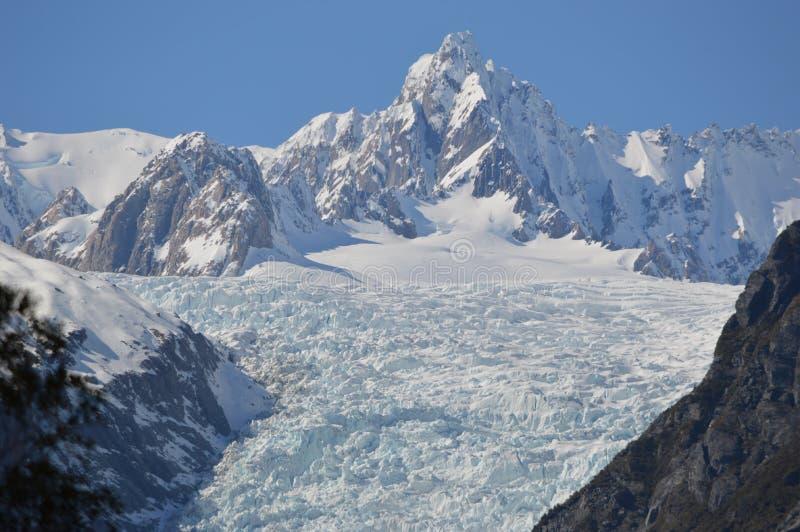 Glaciar Nueva Zelandia del Fox imagen de archivo