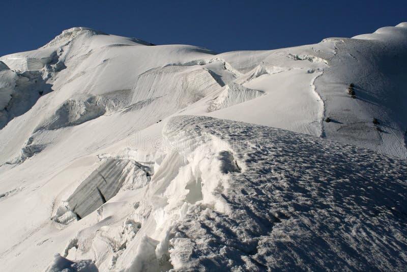 Glaciar rasgado imagen de archivo libre de regalías