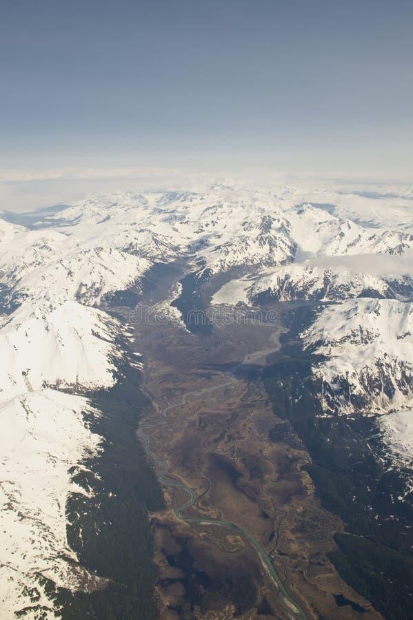 Glaciares de Alaska imagen de archivo