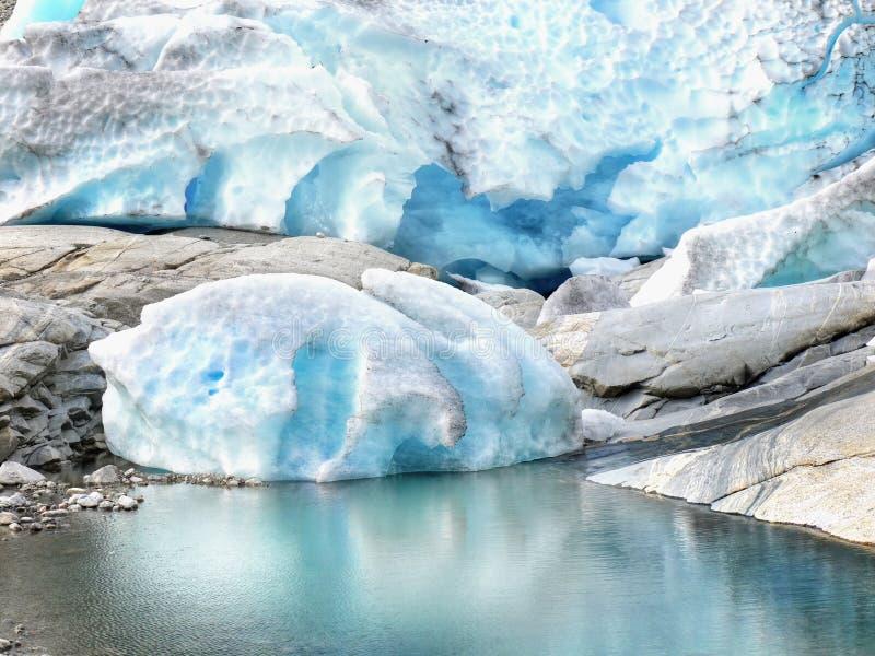 Glaciares de fusión imagenes de archivo