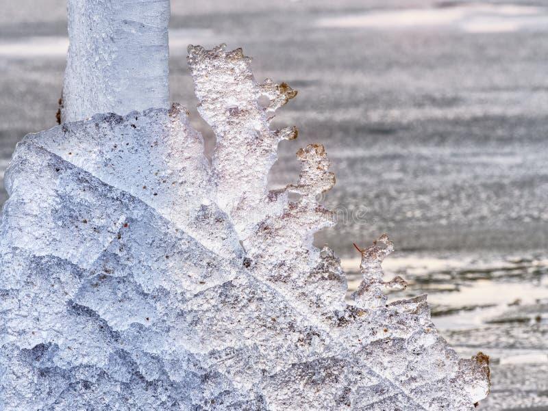 Glaciares de fusión y niveles de levantamiento del río El resultado de acciones humanas peligrosas imagen de archivo