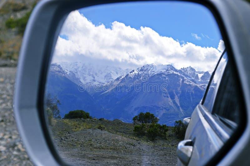 Glaciares en el camino austral fotos de archivo