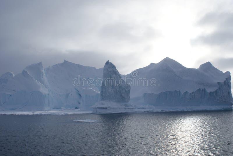 Glaciares en la bahía de Disko, Groenlandia imágenes de archivo libres de regalías